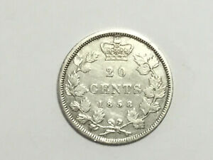 1858 20 Cents Canada ANNÉE KEY DATE see this shiny coin WOW WOW WOW take it NOW