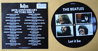 "EX/EX Beatles Picture Disc 7"" Vinyl Let It Be The 20th Anniversary"