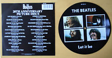 """THE BEATLES LET IT BE 20TH ANNIVERSARY 7"""" Vinyl Picture Pic Disc"""