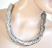 COLLANA girocollo donna argento collarino foglie elegante cerimonia collar 760
