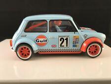 BRM089 BRM MINI COOPER GULF EDITION BLUE #21 1:24 SCALE SLOT CAR