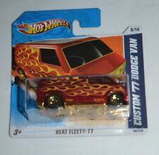 2011 HOT WHEELS HEAT FLEET 11 CUSTOM '77 DODGE VAN ON A SHORT CARD !! VHTF !!