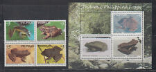 Philippine Stamps 1999 Endemic Philippine Frogs Complete set MNH