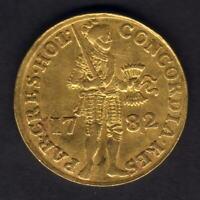 Netherlands - Holland. 1782 Gold Ducat..  VF - Trace Lustre