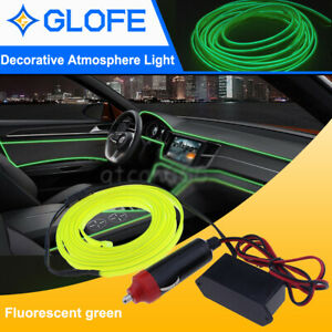 Fluorescent Green LED EL Wire Neon Rope Tube Strip Decor Lights Car String Lamp