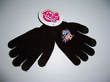 MY LITTLE PONY MLP GIRL'S YOUNG WOMEN'S BLACK KNIT TOUCH SCREEN GLOVES NWT!