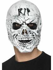 Rasgar Grim Reaper Esqueleto Látex Completo Máscara Halloween Disfraz Hombre