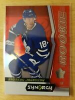 2018-19 Upper Deck Synergy ANDREAS JOHNSSON Rookie Red Parallel #63 Maple Leafs