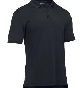 Under Armour 1279759 Men's Black UA Tactical Performance Polo Shirt, Small