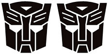 autobot transformers x2 stickers 100mm high in any colour landrover 4x4 car bike