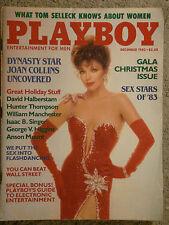 Original Playboy Magazine December 1983 Joan Collins Terry Nihen Sex Stars '83