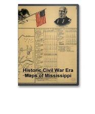 39 Rare Historic Civil War Maps of Mississippi MI -  CD - B9