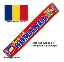 ECHARPE + DRAPEAU ROUMANIE maillot fahne flag scarf schal sciarpa bufanda ...