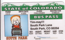 South Park Cartoon TIMMAY novelty plastic collector card Drivers License Timmy