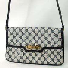 Authentic GUCCI Old Gucci Shoulder Bag PVC/Leather Ladies[Used]