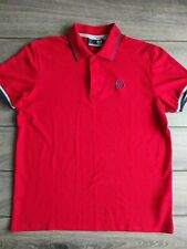 New listing Men's Sergio Tacchini Red Cotton Polyester Short Sleeve Polo Shirt Size M