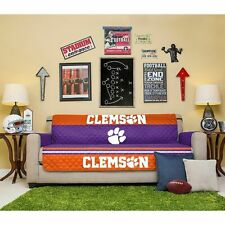 Clemson Tigers Reversible Furniture Protector Quilted Slipcover Sofa Cover