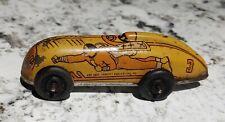 1947 Captain Marvel Tin Litho Wind Up Car Yellow #3