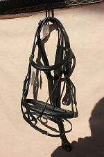 42-1 New Spirig Euroriding black snafflebridle MSRP 279.99