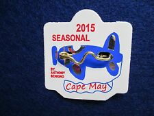 NEW 2015 Seasonal Cape May, NJ Beach Tag/Badge, Free Shipping