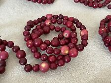 11 Faux Cranberry Crabapple Christmas Tree Garlands Farmhouse Country 5' Each