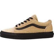 Vans Old Skool Velvet Tan/Black Women's Skate Shoes Size 9