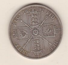 More details for 1891 victorian silver florin in good fine or better condition