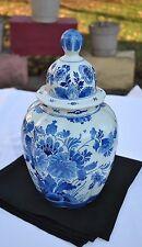 """Dutch Royal DELFT Porceleyne Fles 12"""" Vase/Urn With Cover  DLFPRCVZ20E350DL"""