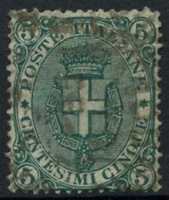 Italy 1891-7 SG#55, 5c Green Used #D5993