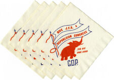 1962 Midterms Kennedy GIVE JFK a REPUBLICAN CONGRESS Cocktail Napkins (5366)