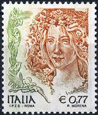 """Italia 2004 Donna nell'Arte da € 0,77 """"IPZS-ROMA"""" dentellatura 13 1/2 x 13 1/4"""