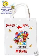 sac shopping noël sac à commissions sac à cadeaux joyeux noel réf 207