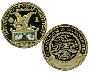 1899 $1 BLACK EAGLE NOTE COMMEMORATIVE COIN PROOF $99.95