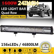 24inch 1600W Quad-row Led Light Bar Spot Flood Combo Work Lamp For Truck SUV ATV