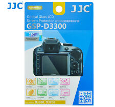 JJC GSP-D3300 GLASS LCD Screen Protector Film for NIKON D3300 D3200 D3400 Camera