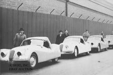 Jaguar XK 120 – export model line-up 1949 – photograph