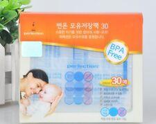 60 Pcs Sterilised Breast Milk Storage Freezer Bags 200ML