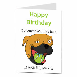 Funny Birthday Card From The Dog Perfect For Husband Wife Son Daughter