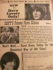 The Monkees, Davy Jones Book, Full Page Promotional Print Ad