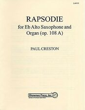 Paul Creston: Rhapsodie For Alto Sax And Organ Op.108A