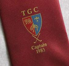 More details for vintage golf tie mens necktie retro sport golfing club tgc