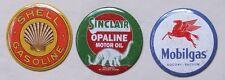 États-unis essence stations-service xl réfrigérateur aimants 3 pcs set mobile shell sinclair