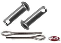 Spur Rowel Pin and Cotter Pin Set Stainless Steel Sold in Pairs New Free Ship