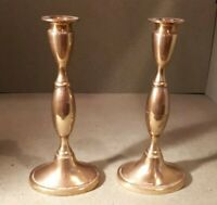 Solid Brass Candlesticks 22 x 10 cms