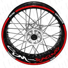 SM Racing - Motorrad Felgenaufkleber rot (Supermoto,HONDA) wheel sticker decal