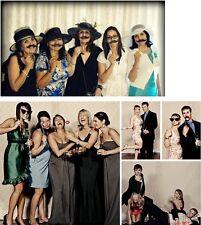 44PC DIY Photo Booth Props Moustache Hat Glasses Stick Party Fun - By TRIXES
