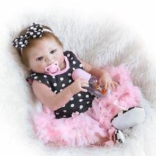 22''Handmade Full Silicone Lifelike Baby Girl Doll Reborn Newborn Dolls Gift CH
