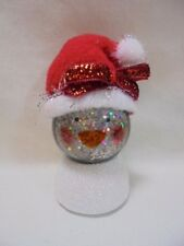 "2"" Mini Lighted Snowglobes Set of 3 Penguin Santa Snowman Loc 2014 B51"