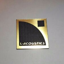 L'acoustics a logo badge plastic 40 mm gold color = 1 7/16''