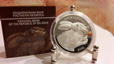 Belarus/Weissrussland  2014 Hase und Familia 2 x 20 Rubley Silber Set